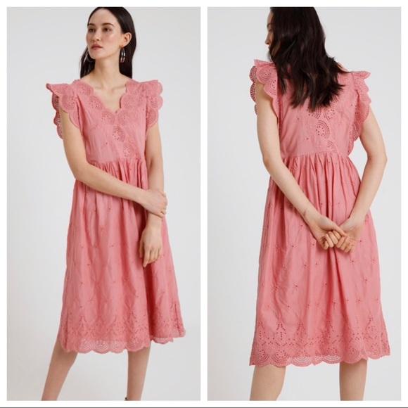 6d0cd727f GAP Dresses | Midi Eyelet Dress Potpourri Pink Size Xs | Poshmark